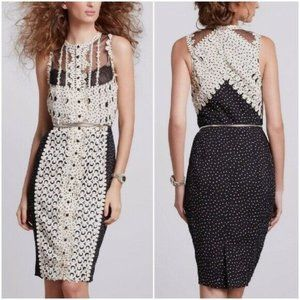 Byron Lars lasercut polka-dot sheath dress PC47
